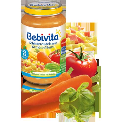 Bebivita Бебешко пюре паста с шунка и зеленчуци 220 гр.